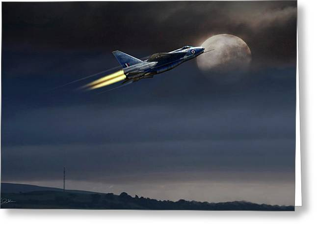 Greeting Card featuring the digital art Heat Of The Night by Peter Chilelli