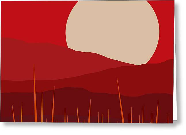 Heat - Red Sky  Greeting Card