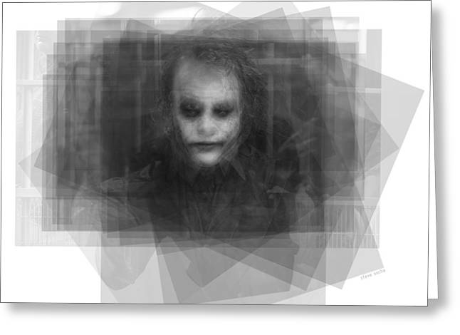 Heath Ledger As The Joker Greeting Card by Steve Socha