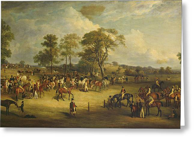 Heaton Park Races Greeting Card by John Ferneley