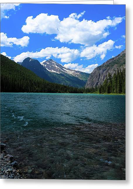 Heavan's Peak From Avalanche Lake Greeting Card