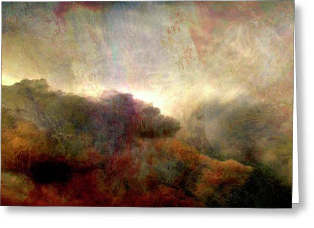 Heaven And Earth - Abstract Art Greeting Card