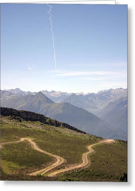 Heaven And Earth Path  Greeting Card by Dagmar Batyahav
