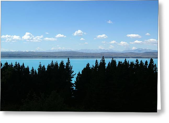 Heaven Blue Greeting Card by Jessica Rose