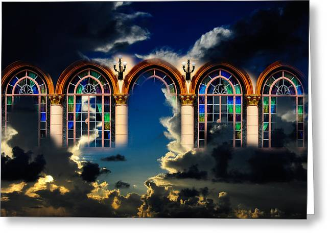 Greeting Card featuring the photograph Heaven by Harry Spitz