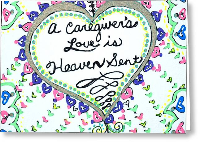 Heaven Sent Greeting Card by Carole Brecht