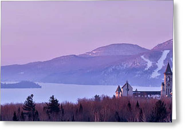 Heavenly Alpenglow Greeting Card