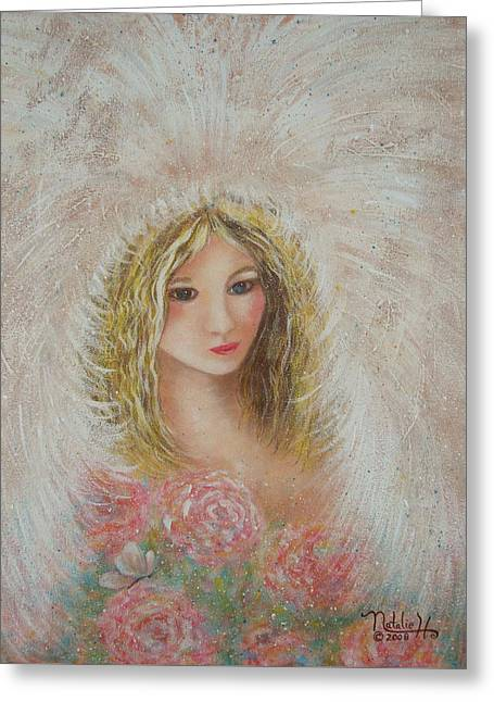 Heavenly Angel Greeting Card by Natalie Holland