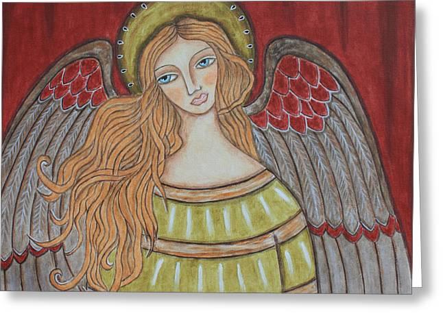 Heavenly Angel Greeting Card by Rain Ririn