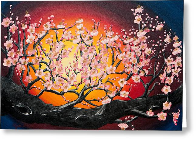 Heavenly Blossoms Greeting Card by Olga Smith