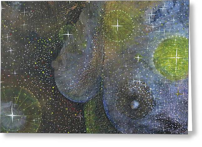 Greeting Card featuring the painting Heavenly Body Aka The Milky Way by Kym Nicolas