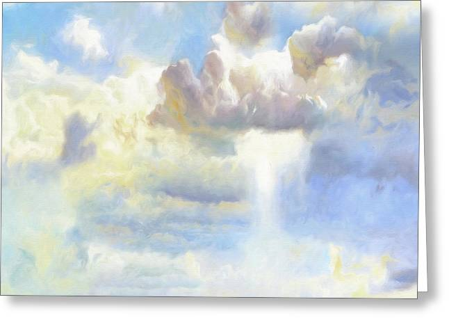 Heavenly Clouded Beautiful Sky Greeting Card