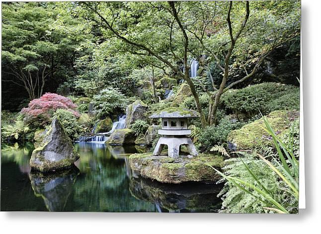 Heavenly Fall Portland Oregon Japanese Greeting Card by Douglas Orton