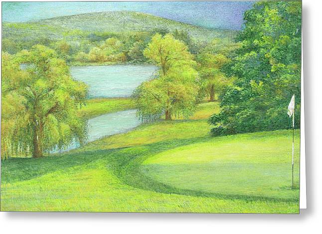 Heavenly Golf Day Landscape Greeting Card