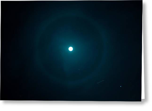 March Moon Greeting Cards - Heavenly Halo Greeting Card by DigiArt Diaries by Vicky B Fuller