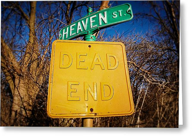 Heavenly Irony Greeting Card by Todd Klassy
