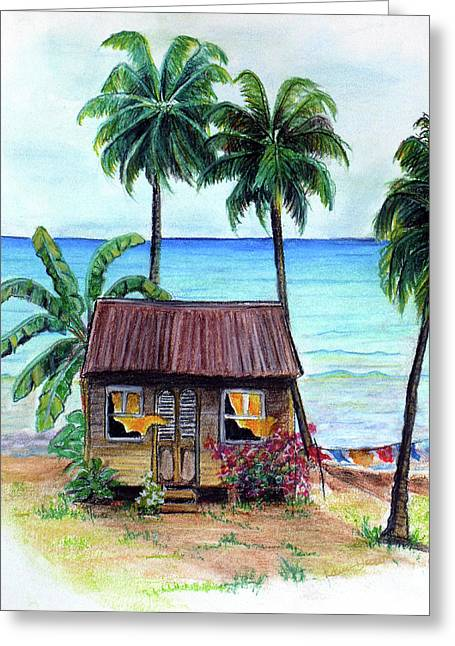 Beach House Pastels Greeting Cards - Heavenly Greeting Card by Karin Kelshall- Best