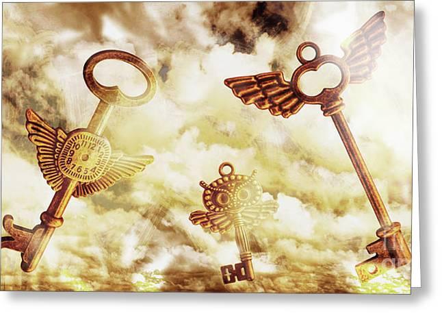 Heavenly Keys Greeting Card by Jorgo Photography - Wall Art Gallery