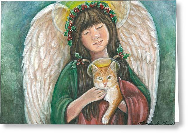 Heavenly Kitty Greeting Card
