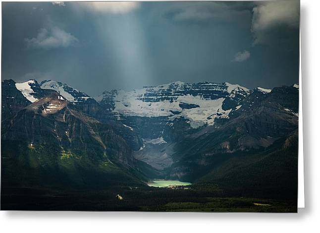 Greeting Card featuring the photograph Heavenly Lake Louise by William Lee
