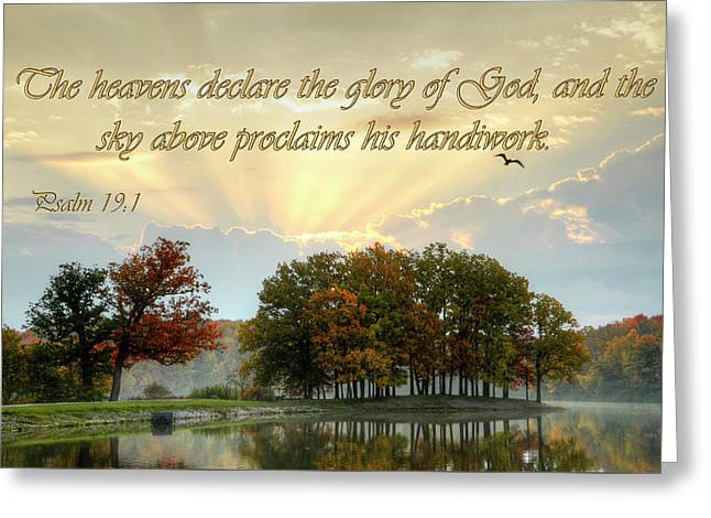Greeting Card featuring the photograph Heavenly Morning by Ann Bridges