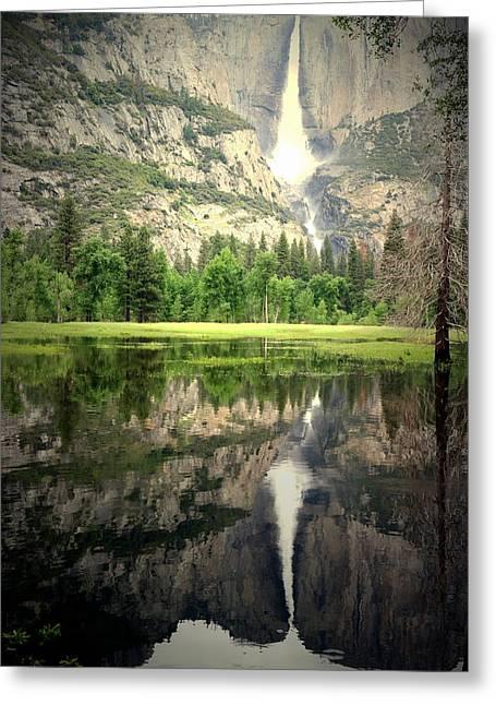 Heavenly Reflections At Yosemite Greeting Card