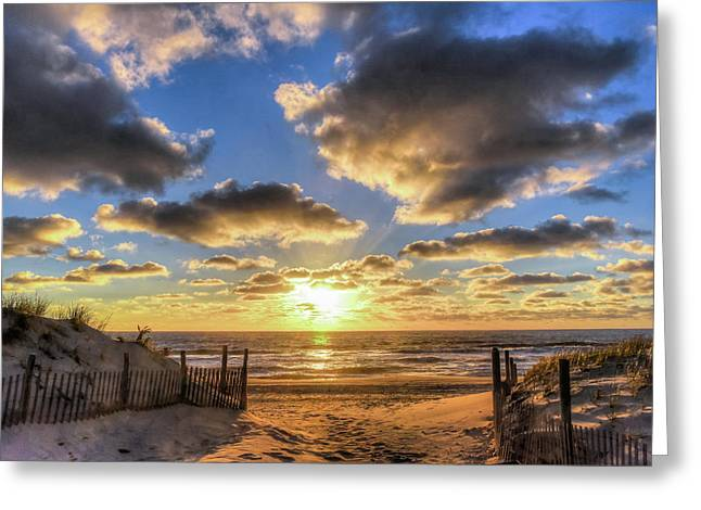 Heavenly Skies At The Jersey Shore Greeting Card