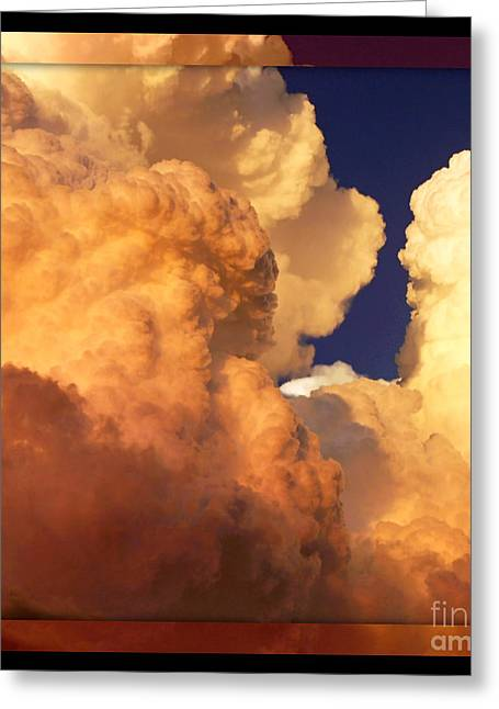 Heavenly Square 2 Greeting Card by Carol Groenen