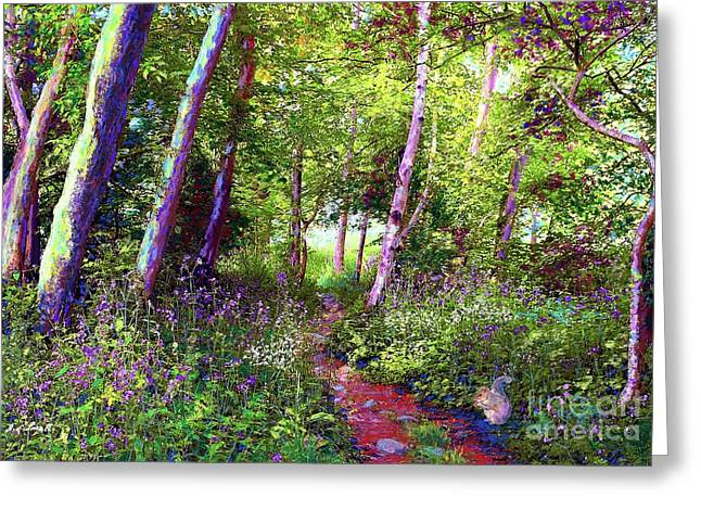 Heavenly Walk Among Birch And Aspen Greeting Card