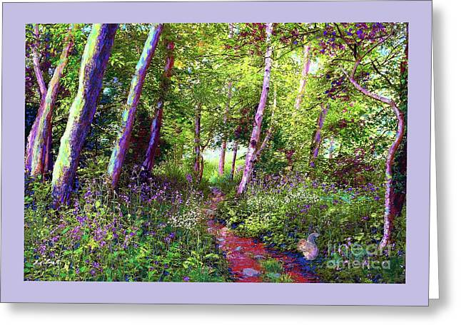 Greeting Card featuring the painting Heavenly Walk Among Birch And Aspen by Jane Small