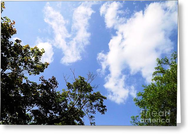 Heavens Abstract Sky Art Greeting Card