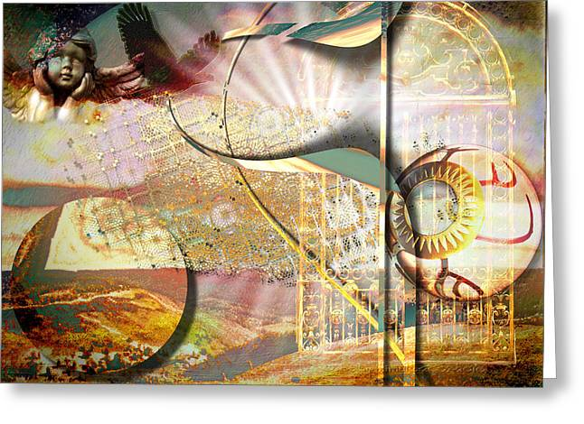 Heaven's Gate Greeting Card by Mimulux patricia no No