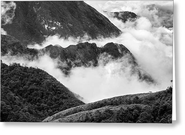 Greeting Card featuring the photograph Heavens Gate Mountain Landscape, Sapa Vietnam by Michalakis Ppalis