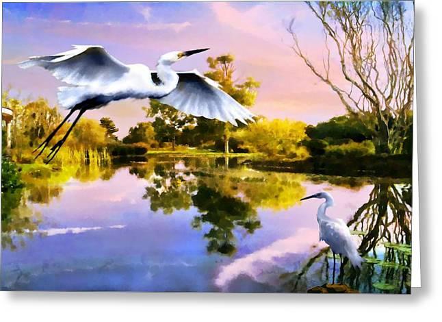Heavens Lake Greeting Card