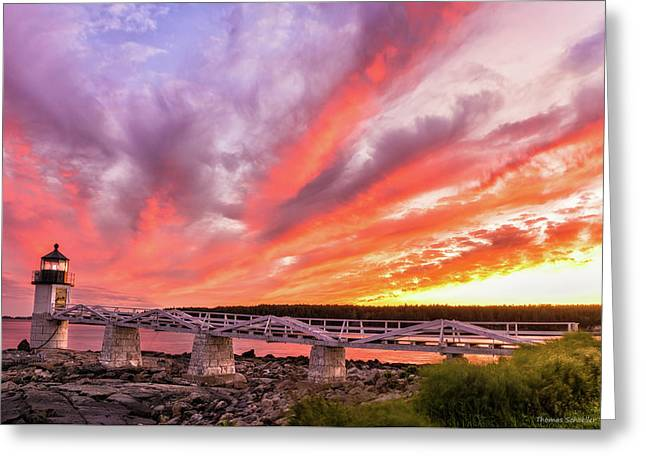 Heavens On Fire - Port Clyde Greeting Card