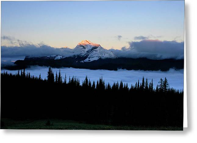 Heaven's Peak Greeting Card by Dave Hampton Photography
