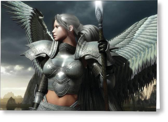 Heaven's Spear Greeting Card by Melissa Krauss