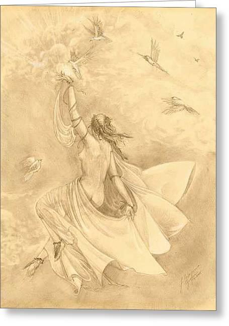 Heavenward Greeting Card by Julianna Ziegler
