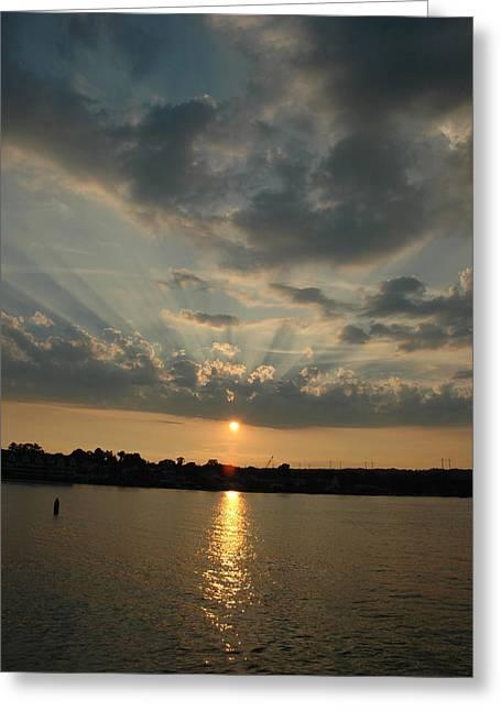 Heavenward Greeting Card by Rebecca Fitzgerald