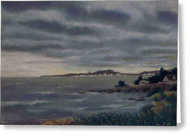 Heavy Clouds Over Rye Greeting Card by Marcus Moller