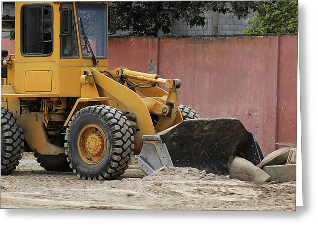 Heavy Construction Equipment Greeting Card by Robert Hamm
