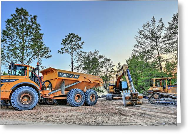 Heavy Equipment Greeting Card by JC Findley