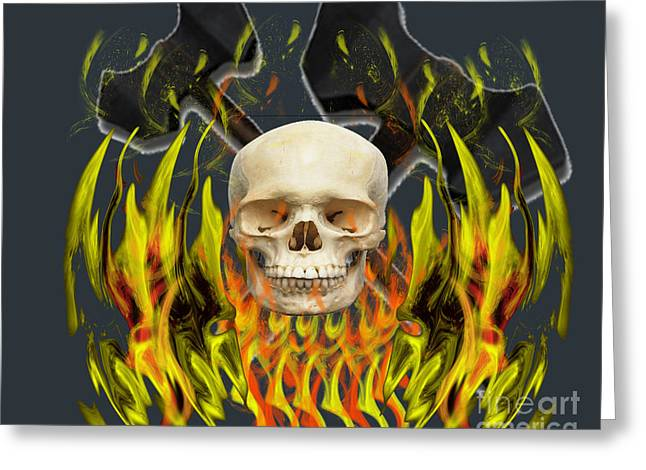 Heavy Metal Greeting Card by Scott Hervieux