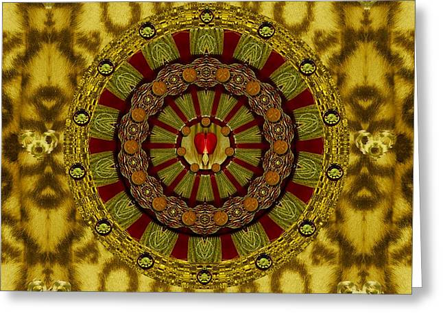 Heavy Metal With A Heart Of A Lion Greeting Card by Pepita Selles