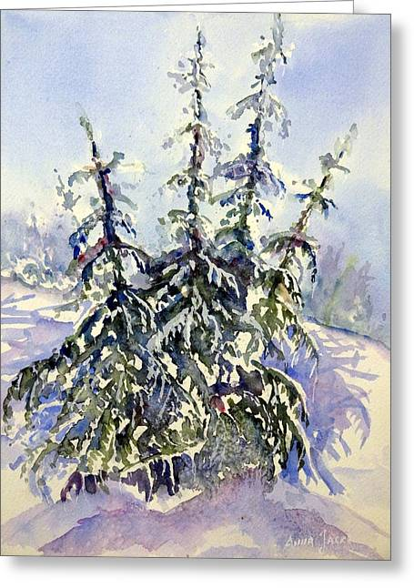 Heavy Snow In The Cascades Greeting Card