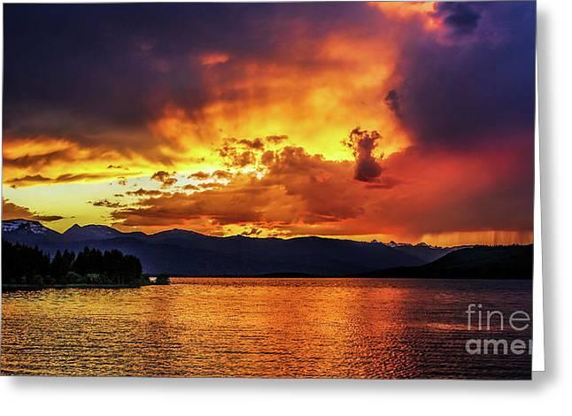 Hebgen Lake Sunset Greeting Card