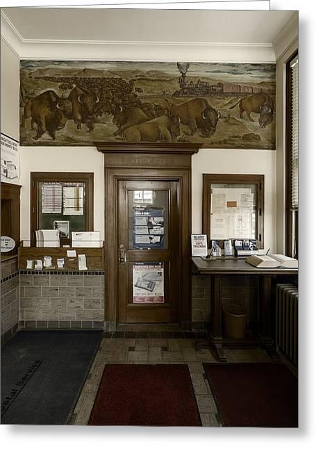 Hebron Nebraska Post Office Mural Greeting Card
