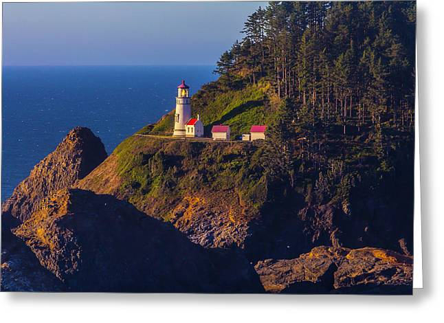 Heceta Head Lighthouse 2 Greeting Card by Garry Gay