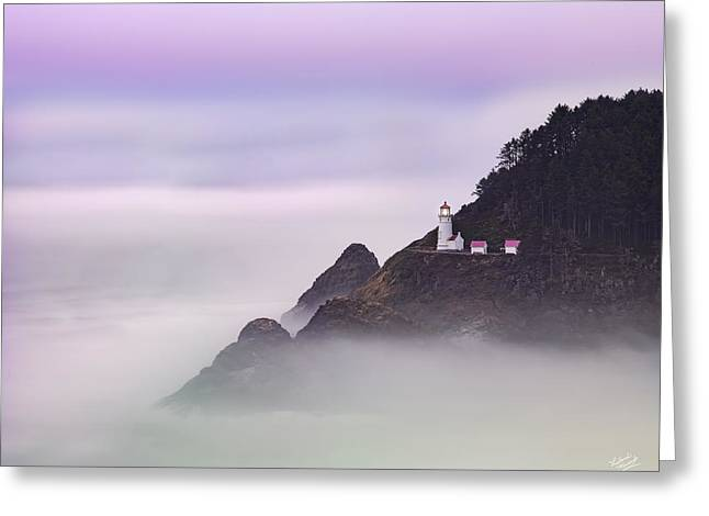Heceta Head Lighthouse 2 Greeting Card by Leland D Howard