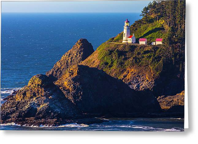 Heceta Head Lighthouse Greeting Card by Garry Gay